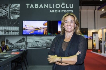 Melkan Gursel Tabanlioglu from Tabanlioglu, profile picture , During City Scape 2014 Exhibition, Dubai World Trade Centre,  Dubai , United Arab Emirates, September 21,  2014 (Photo by Mosh Lafuente /ITP Images)